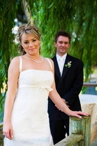 Scott and Tanya at their Lodi wedding at Amorosa Inn and Gardens
